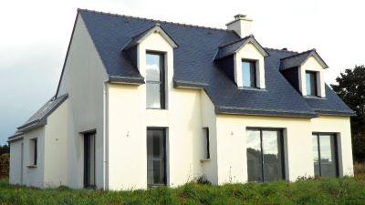 Beautiful volume et vie de plain pied pour cette maison - Modele de maison a construire plain pied ...